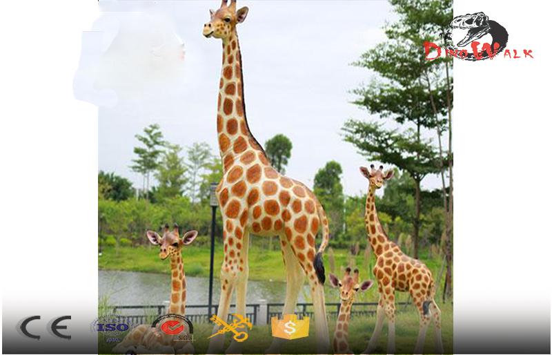outdoor display set fiberglass giraffe with baby giraffe