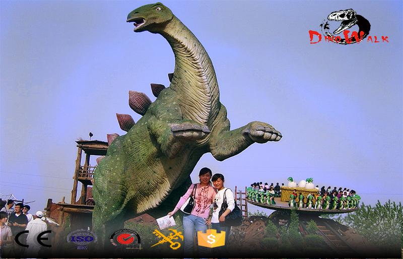 Standing dinosaur outdoor attractive decoration display