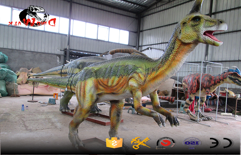 China exclusive dinosaur Tsintaosaurus real life size simulation model