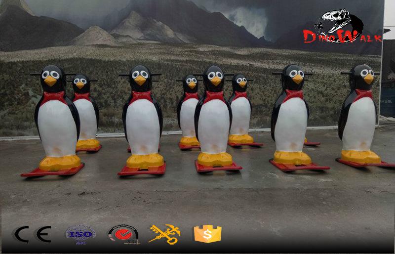 out door fiberglass penguin little statues display