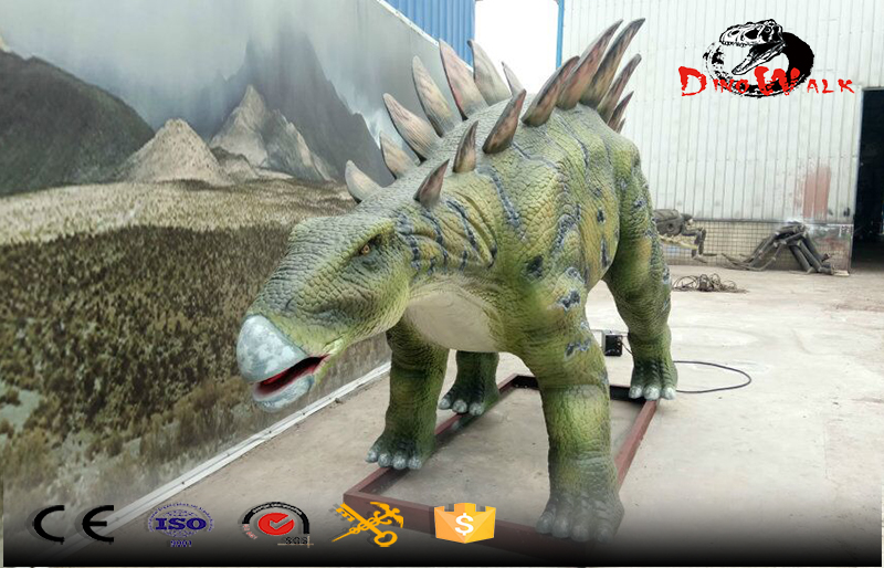 realistic animatronic dinosaur model with movement simulation