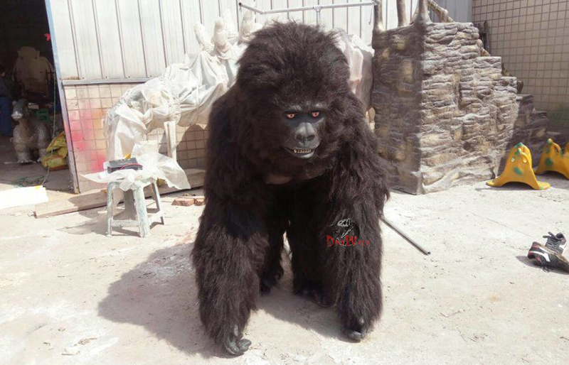 gorilla simulation costume with facial expression
