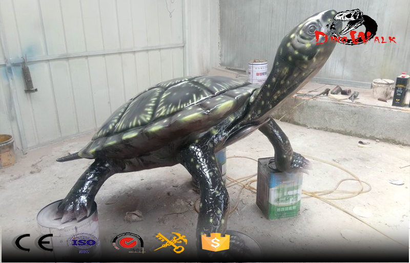 out door fiberglass made big tortoise display for park