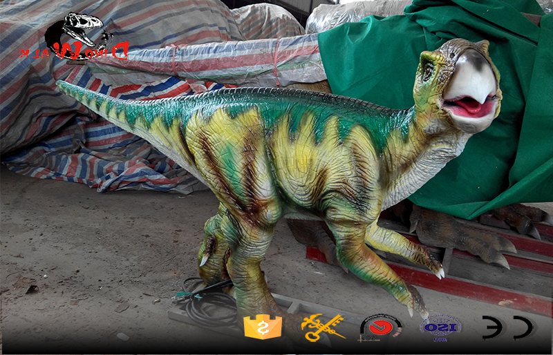 medium size animatronic dinosaur with movement simulation for park