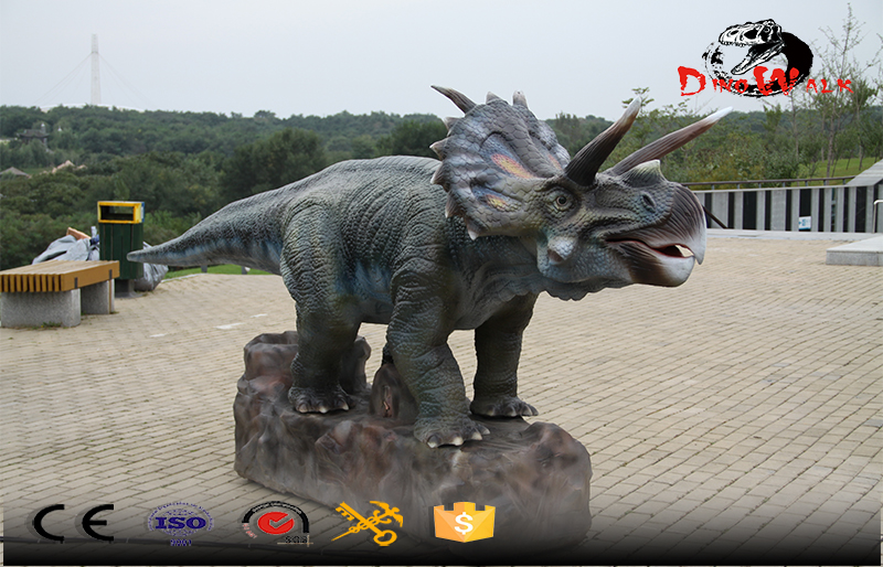 cute baby Triceratops animatronic dinosaur with movement simulation