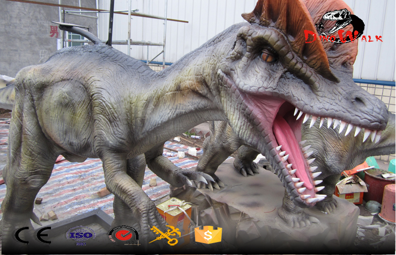 high quality outdoor dinosaur attractive model with movement
