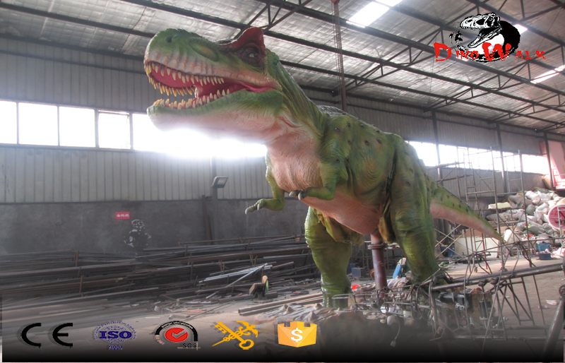 big size T-rex dinosaure with walking simulation and other movement