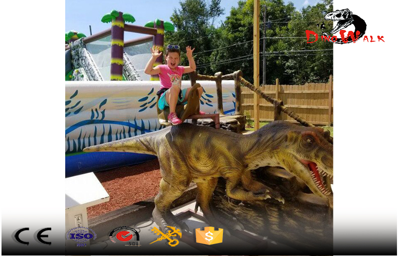 high quality outdoor animatronic riding dinosaur