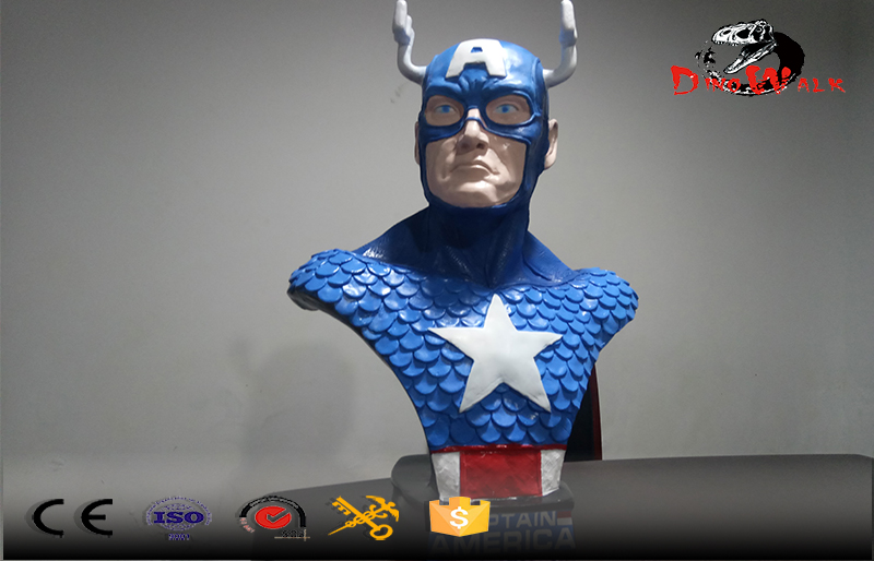Captain America sculpture display