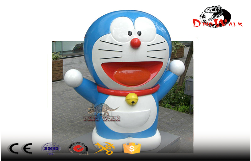 1.5 meters tall Doraemon fiberglass outdoor decoration statue