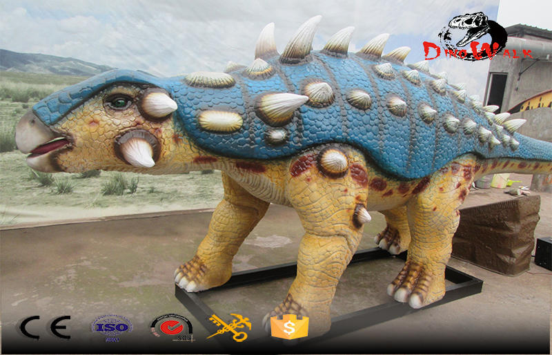 color exaggerate Ankylosaur dinosaur animatronic simulation model