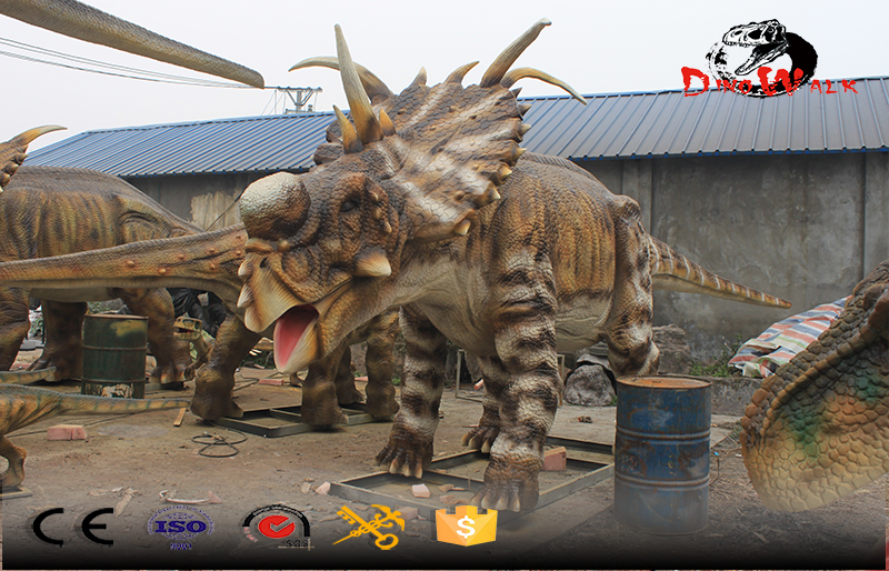animatronic real life size dinosaure simulation outdoor display