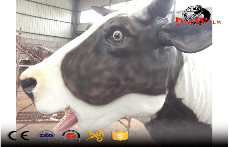 dairy cow animatronic simulation animal display natual museum display