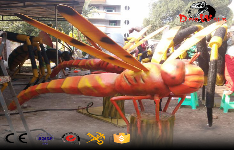giant dragonfly animatronic insect model