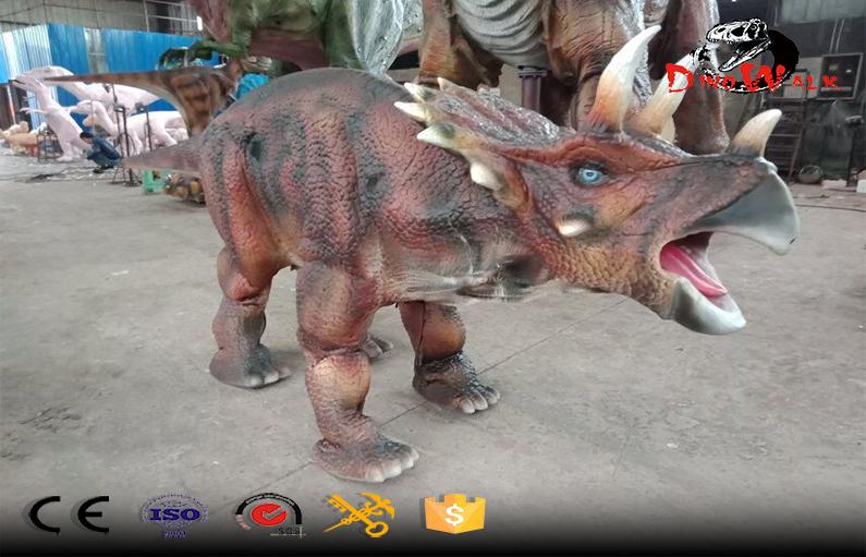hidden legs animatronic dinosaur suit Triceratops costume