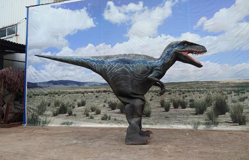 Hidden legs animatronic velociraptor dinosaur suit