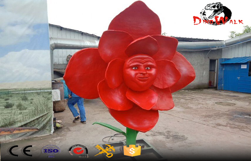 animatronic plants flower model for theme park