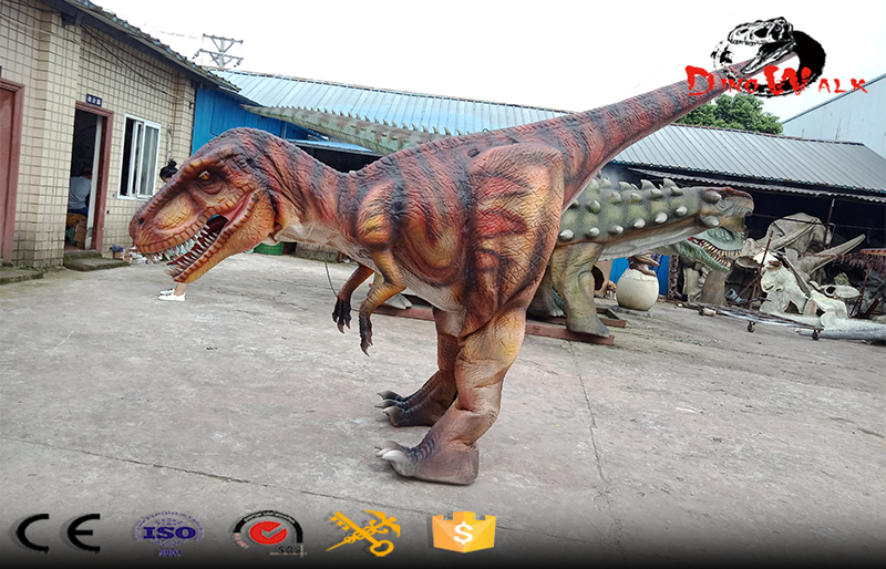 realistic dinosaur costume with hidden legs