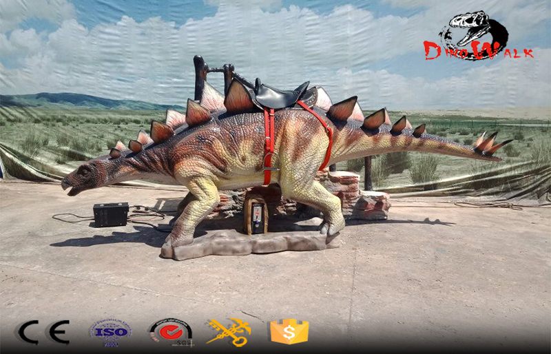 coin operated animatronic stegosaurus dinosaur rides