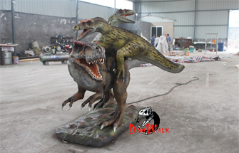 The Difference between Simulated Dinosaur Model Silicone Material and GFRP